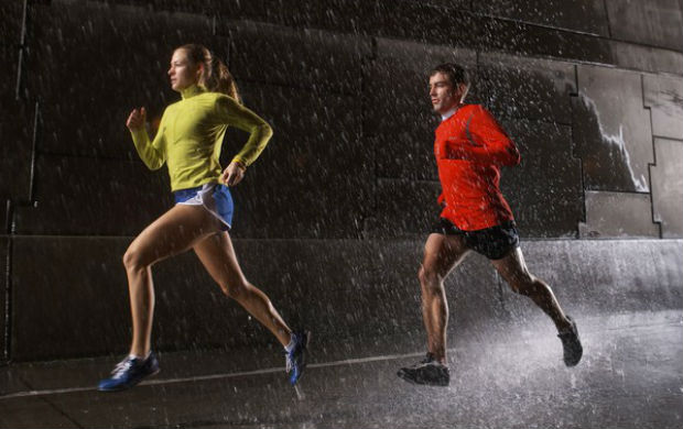 corrida chuva